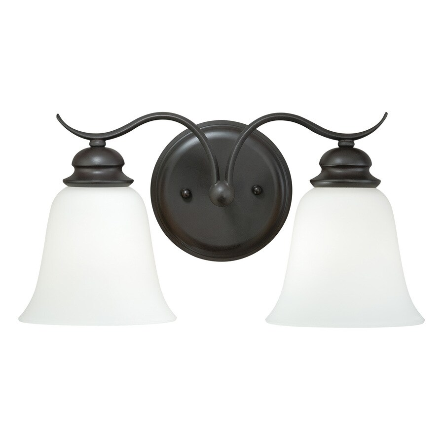 Cascadia Darby 2-Light 8-in Noble Bronze Bell Vanity Light