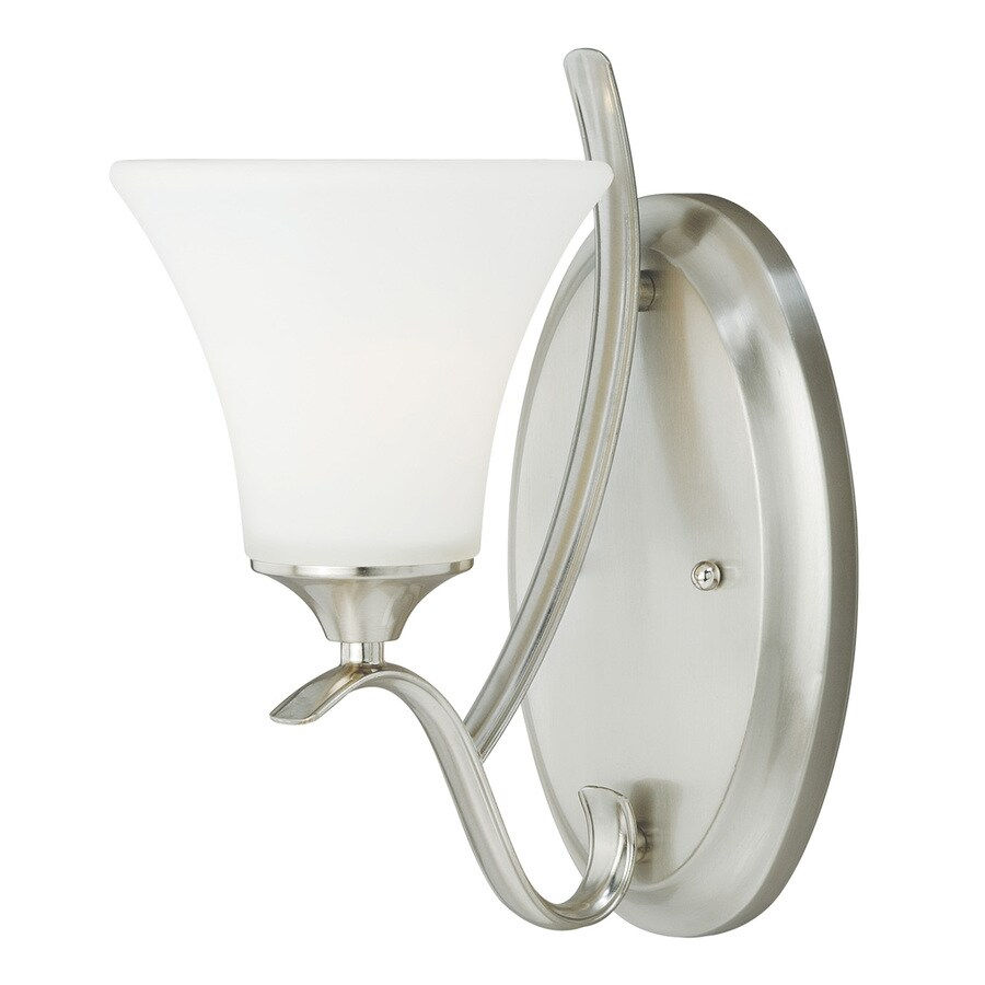 Cascadia Cordoba 1-Light 11.75-in Satin Nickel Bell Vanity Light
