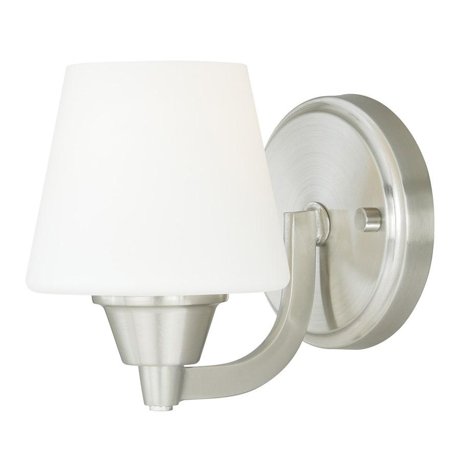 Cascadia Calais 1-Light 6.75-in Satin nickel Cone Vanity Light