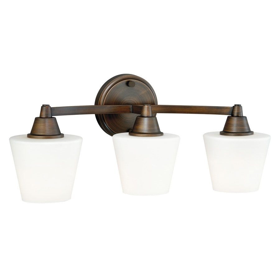 Cascadia Calais 3-Light 9-in Venetian bronze Cone Vanity Light