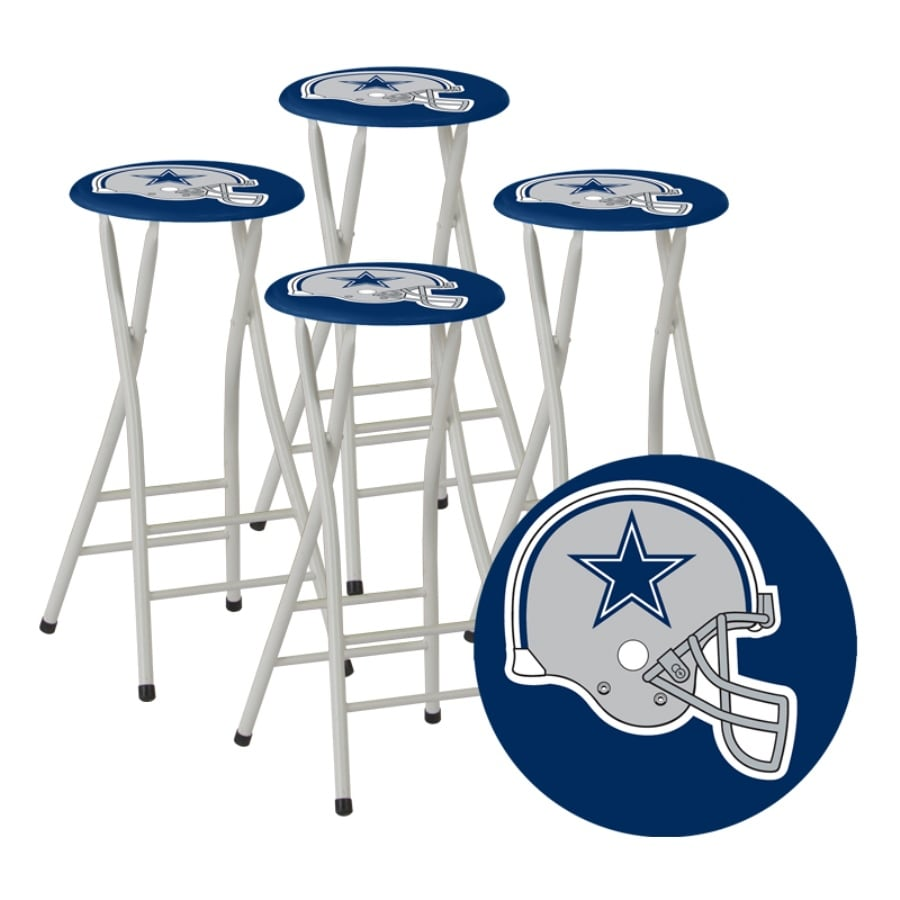 Shop best of times set of 4 dallas cowboys 30 in bar stools at lowes best of times set of 4 dallas cowboys 30 in bar stools watchthetrailerfo