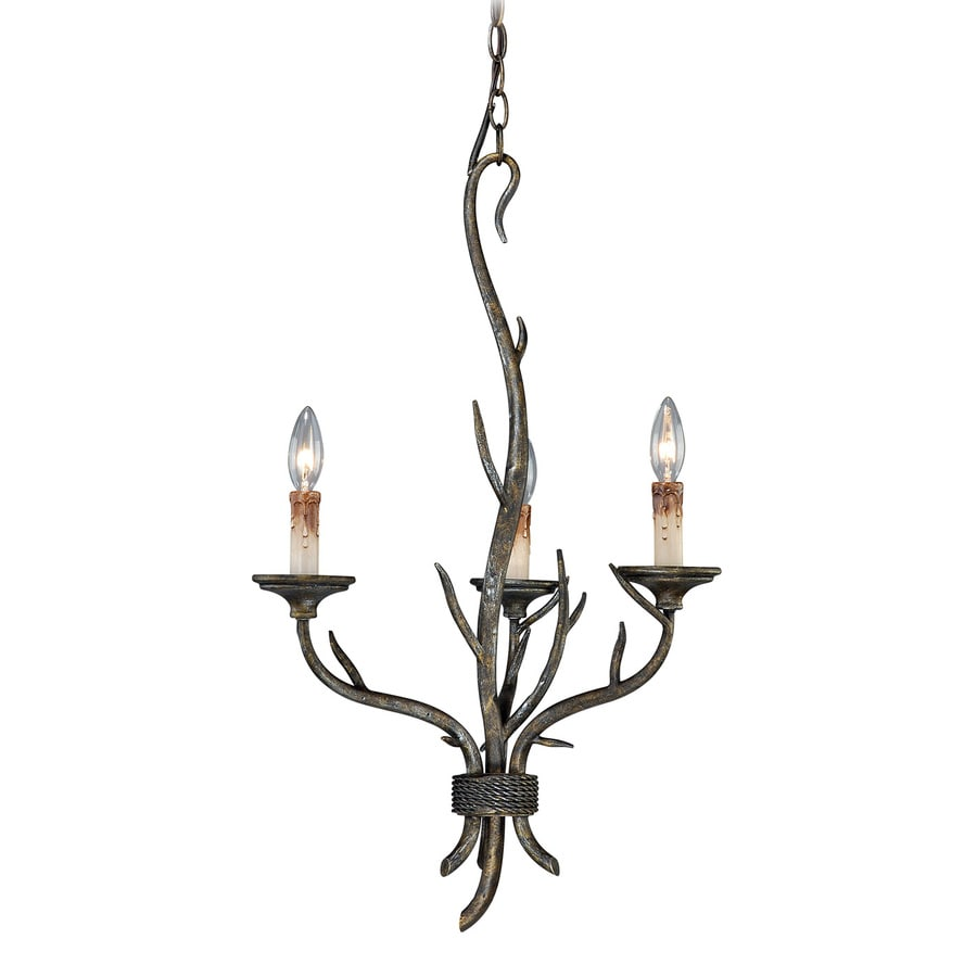 Cascadia Monterey 18-in 3-Light Autumn patina Rustic Candle Chandelier