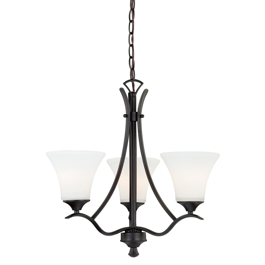 Cascadia Cordoba 20.5-in 3-Light Noble Bronze Shaded Chandelier