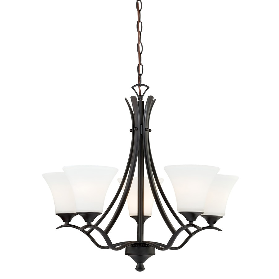 Cascadia Cordoba 25.5-in 5-Light Noble Bronze Shaded Chandelier