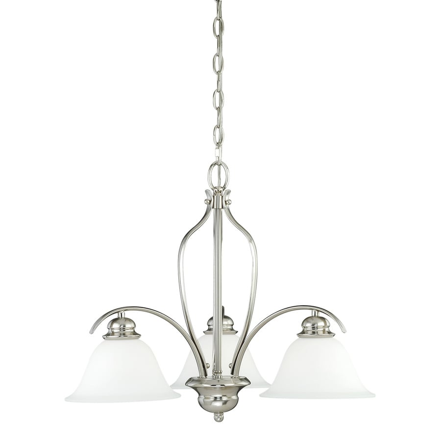 Cascadia Darby 22.5-in 3-Light Satin nickel Shaded Chandelier