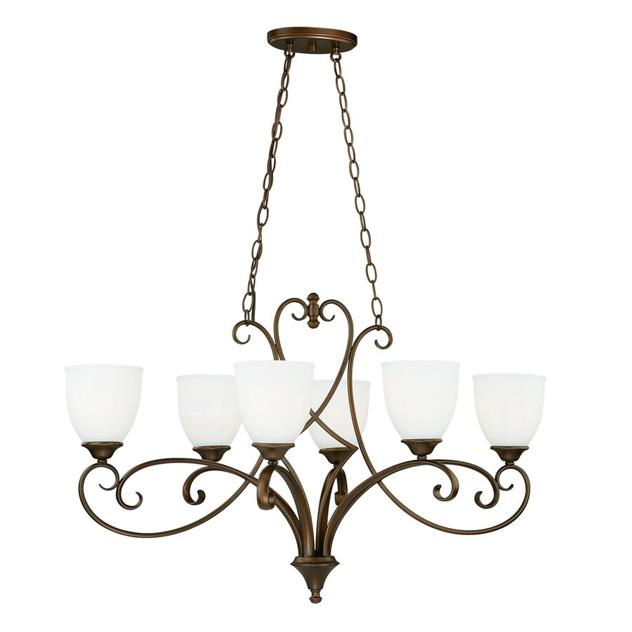 Venetian Bronze Chandelier: Shop Cascadia Claret 36-in 6-Light Venetian Bronze