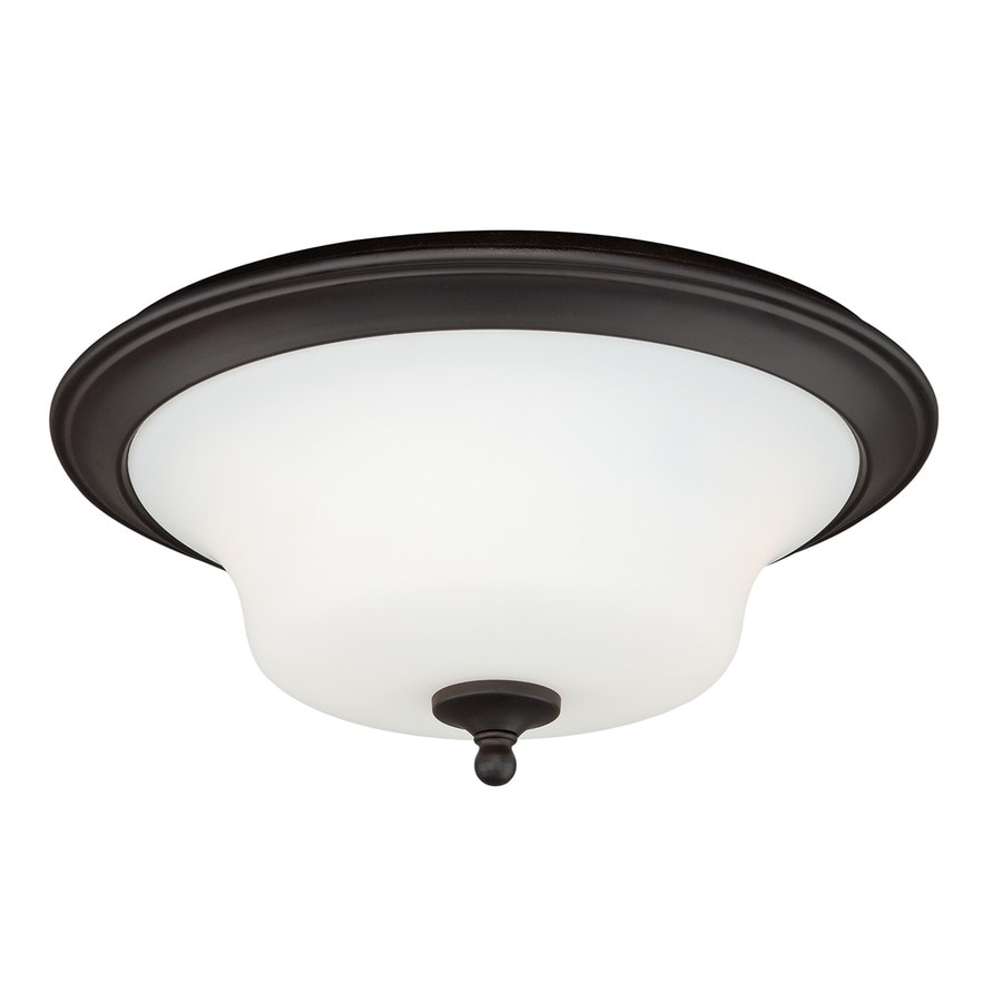 Cascadia Cordoba 14-in W Noble bronze Flush Mount Light