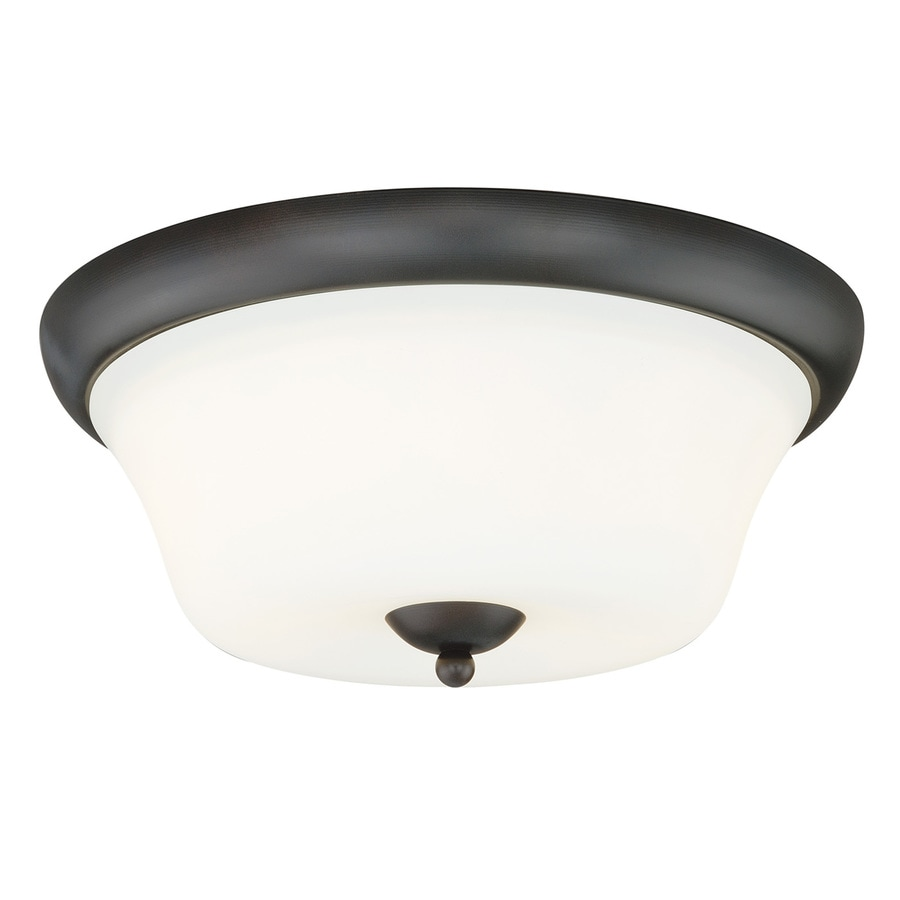 Cascadia Poirot 14.5-in W New bronze Flush Mount Light