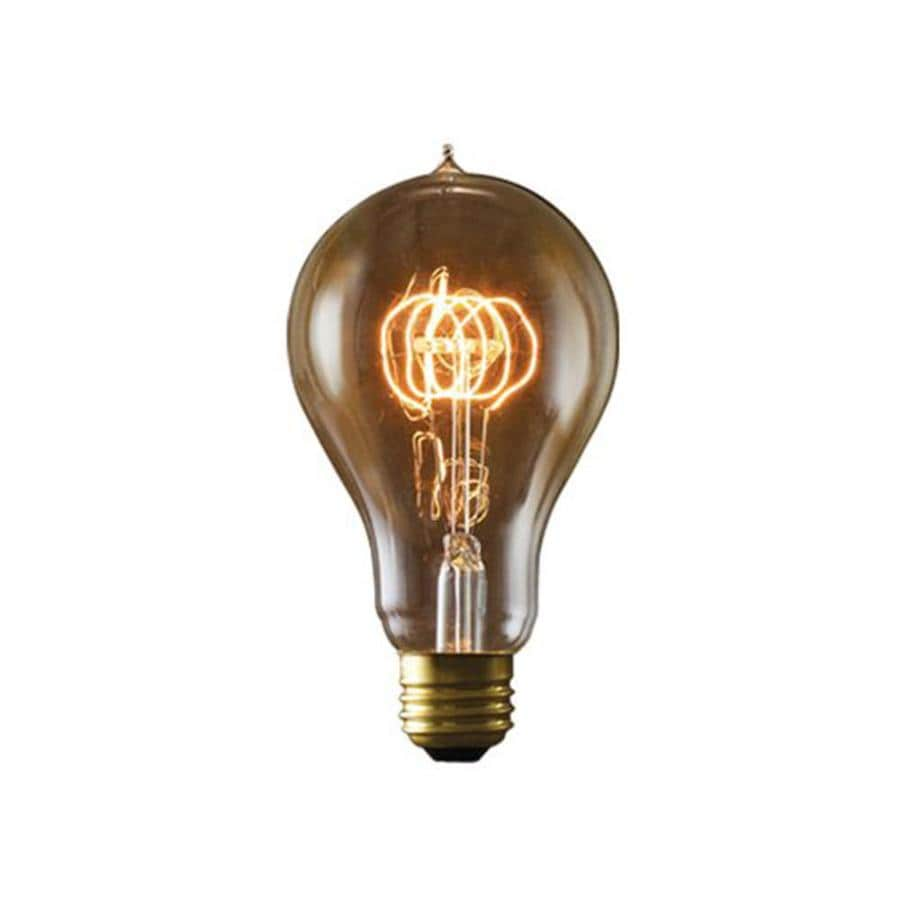 Cascadia Lighting Nostalgic Victorian 2-Pack 25 Watt Dimmable Amber A23 Vintage Incandescent Decorative Light Bulb