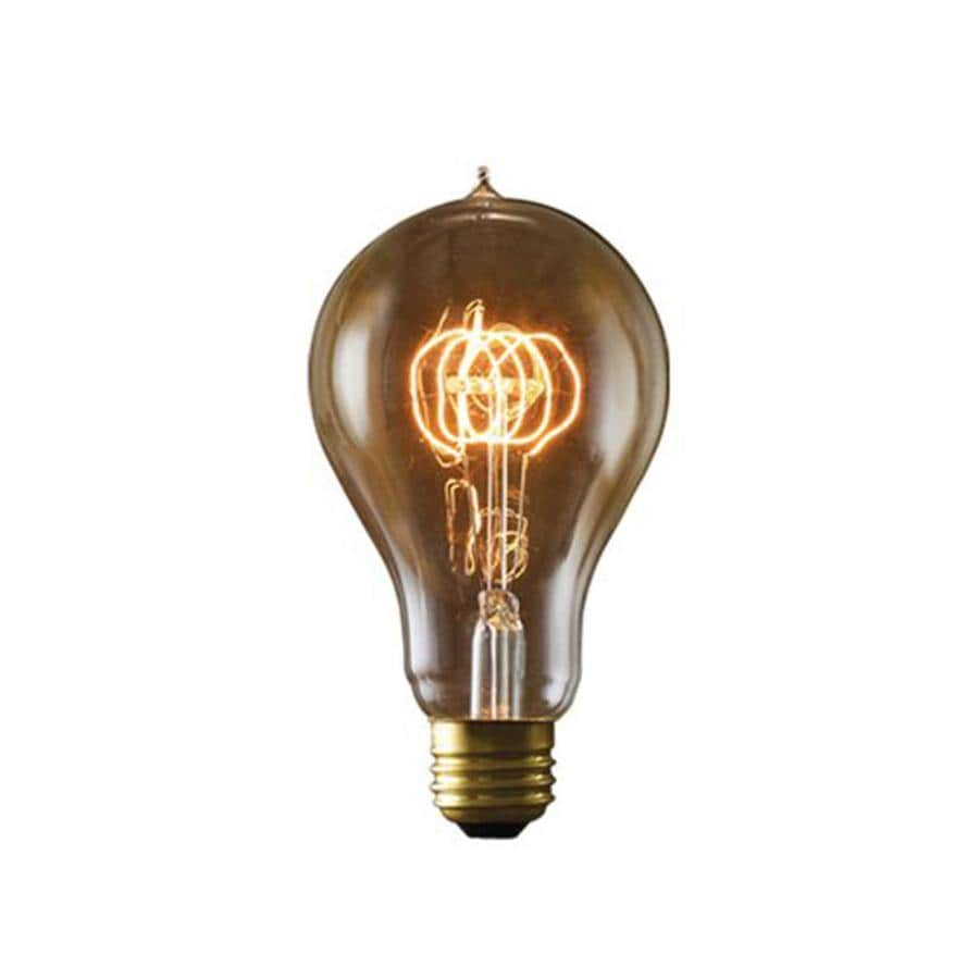 Cascadia Lighting Nostalgic Victorian 2-Pack 40 Watt Dimmable Amber A23 Vintage Incandescent Decorative Light Bulb