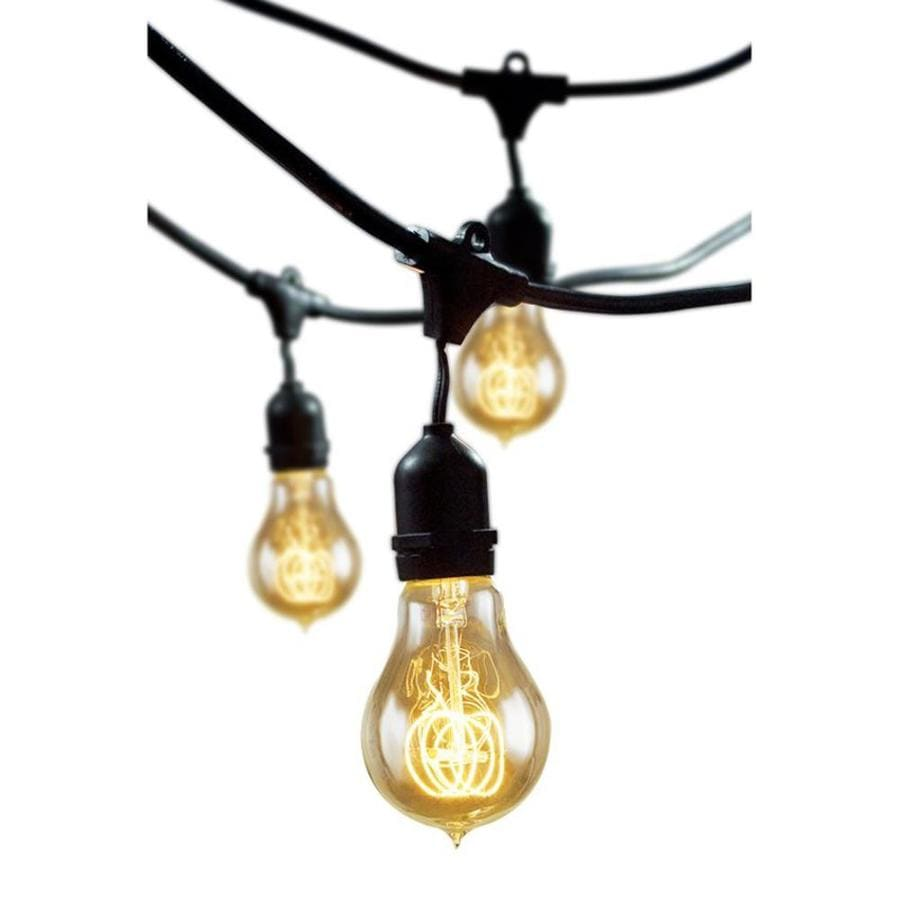 Outdoor Patio String Lights Lowes: Cascadia Lighting 48-ft-Light Yellow-Shade Plug-in Bulbs