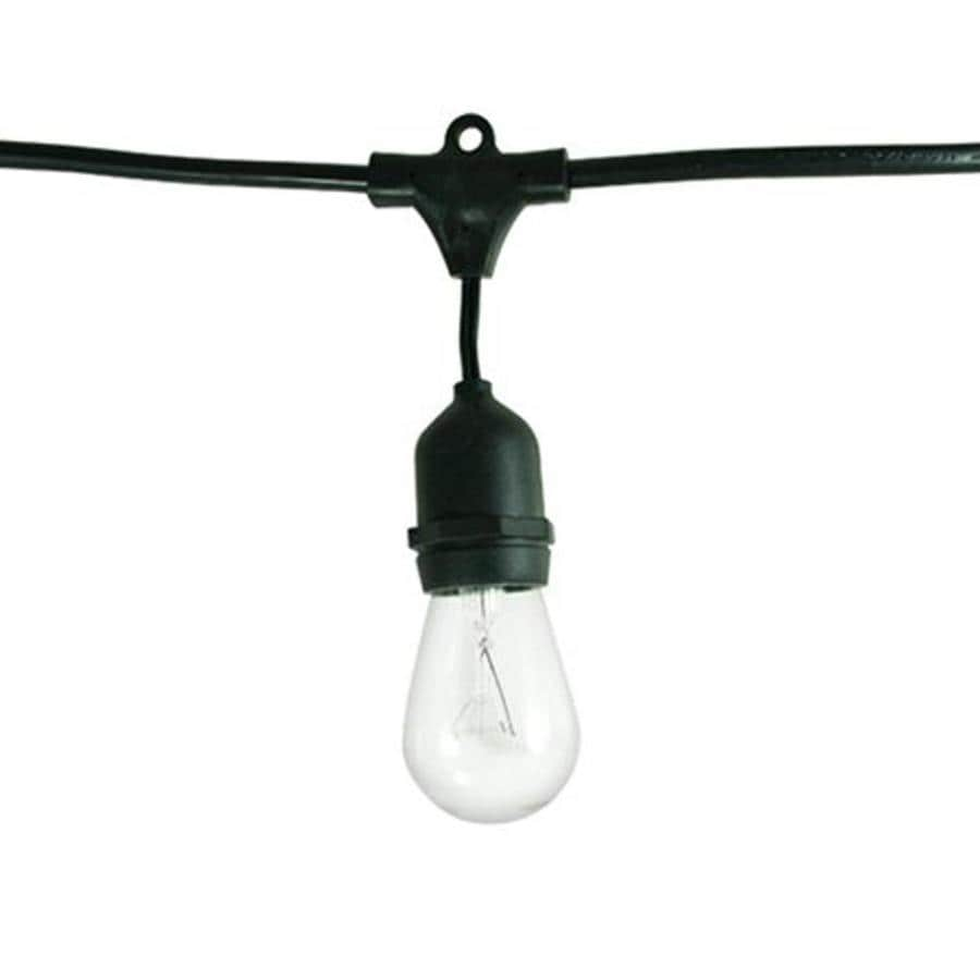 shop cascadia lighting 48 ft black indoor outdoor plug in string