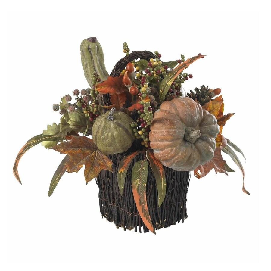 Nearly Natural Green Fall Pumpkin Berry Arrangement
