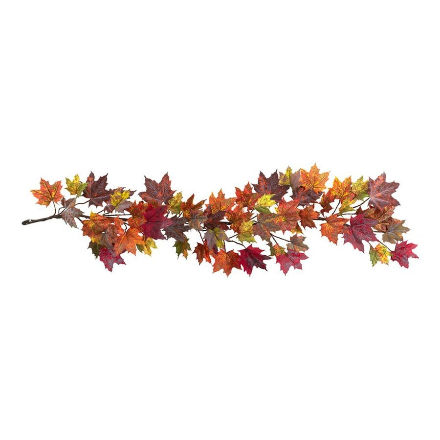 Nearly Natural Unlit 5-ft Leaf Artificial Halloween Garland