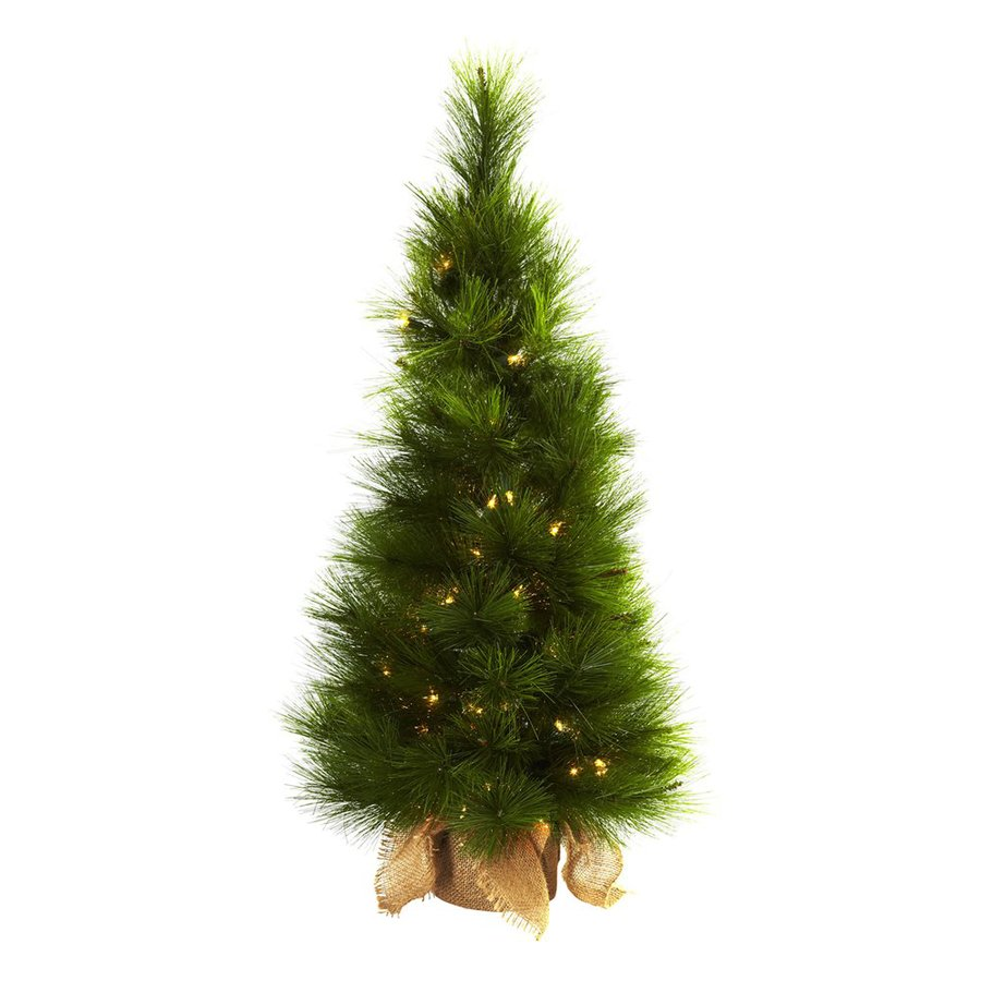 Nearly Natural 3-ft Pre-lit Slim Artificial Christmas Tree with 50 Constant Clear White Incandescent Lights
