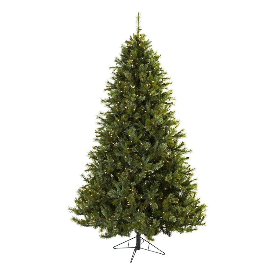 Nearly Natural Majestic 7.5-ft Pre-Lit Artificial Christmas Tree with White Clear Incandescent Lights