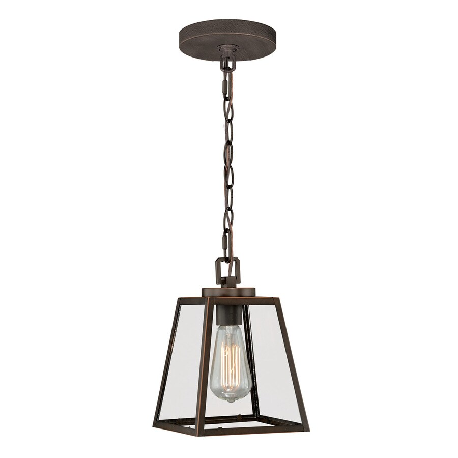 Shop cascadia 7 in burnished bronze industrial mini clear for Industrial bulb pendant