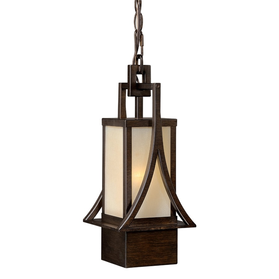 Cascadia Osaka 14.87-in H Bronze Outdoor Pendant Light