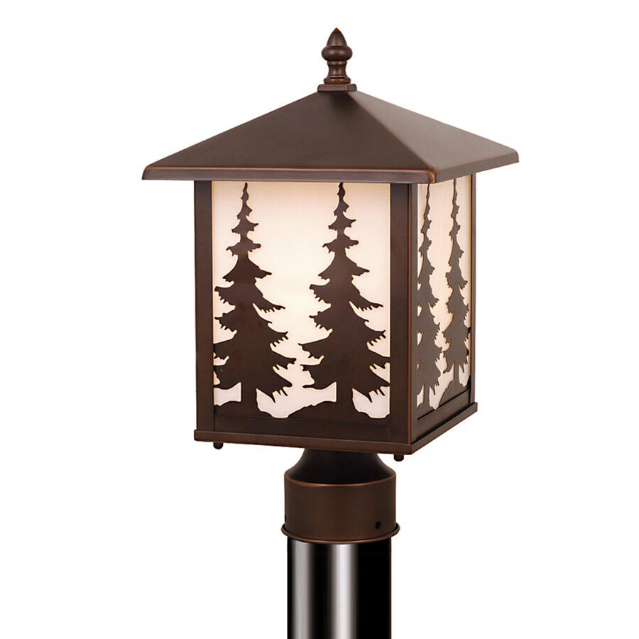 Cascadia Yosemite 14-in H Burnished Bronze Post Light