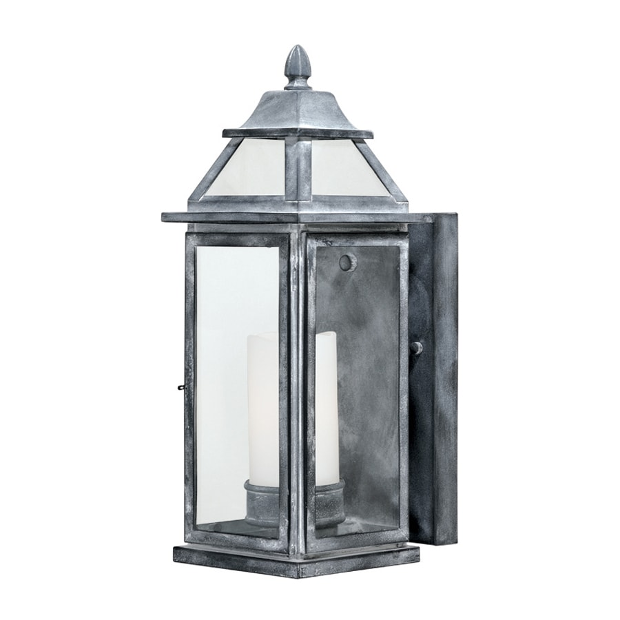 Cascadia Lockport 14.62-in H Weathered Black Outdoor Wall Light