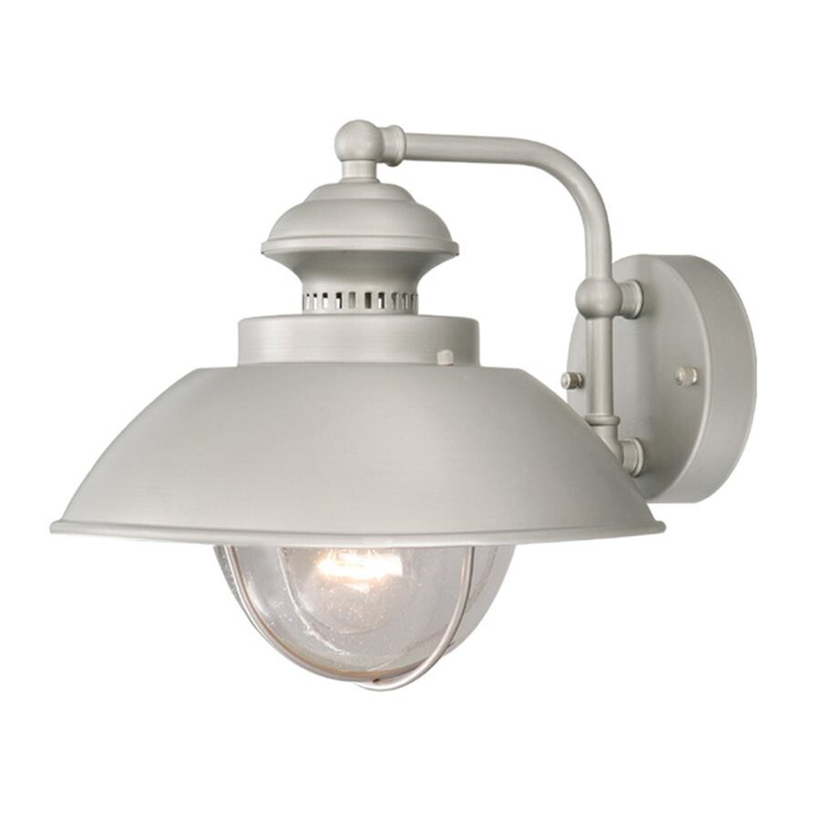 Cascadia Harwich 10.25-in H Brushed Nickel Outdoor Wall Light