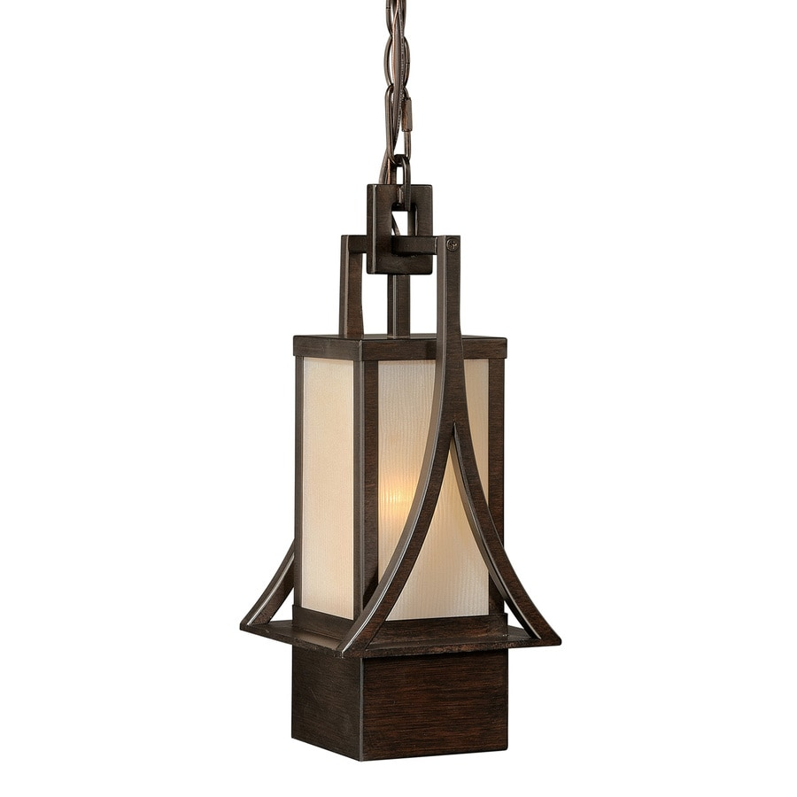Cascadia 20.5-in H Bronze Outdoor Pendant Light