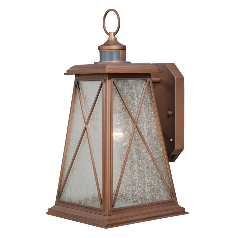 Cascadia Mackinac 18-in H Antique Red Copper Motion Activated Outdoor Wall Light
