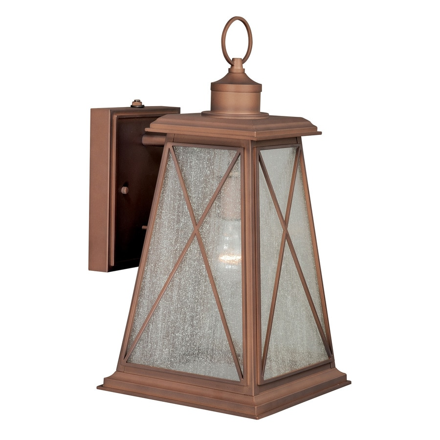Cascadia 18-in H Antique Red Copper Outdoor Wall Light