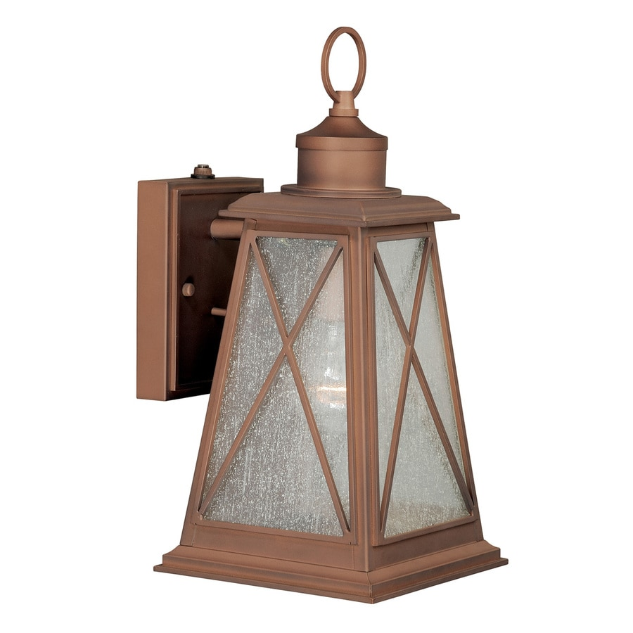 Cascadia 14.25-in H Antique Red Copper Outdoor Wall Light