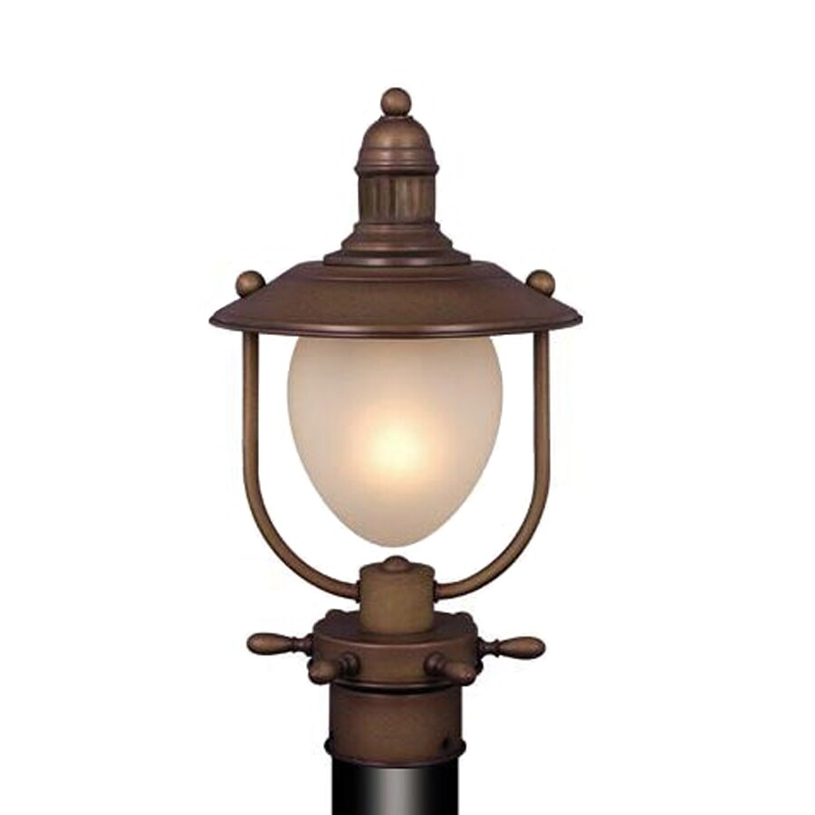 Cascadia Nautical 11-in H Antique Red Copper Post Light