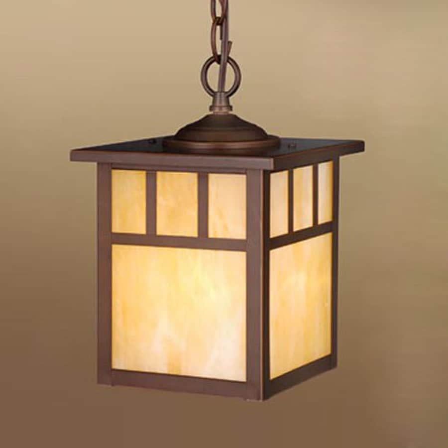 Cascadia Mission 12.5-in H Bronze Outdoor Pendant Light