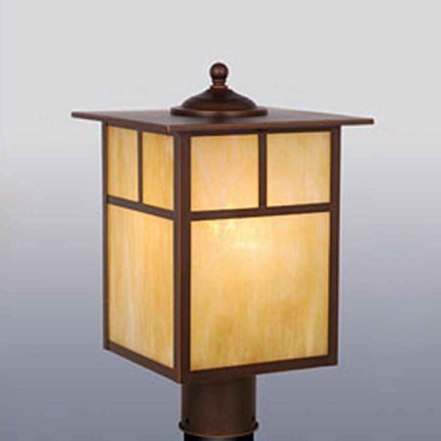 Cascadia Mission 15-in H Burnished Bronze Post Light