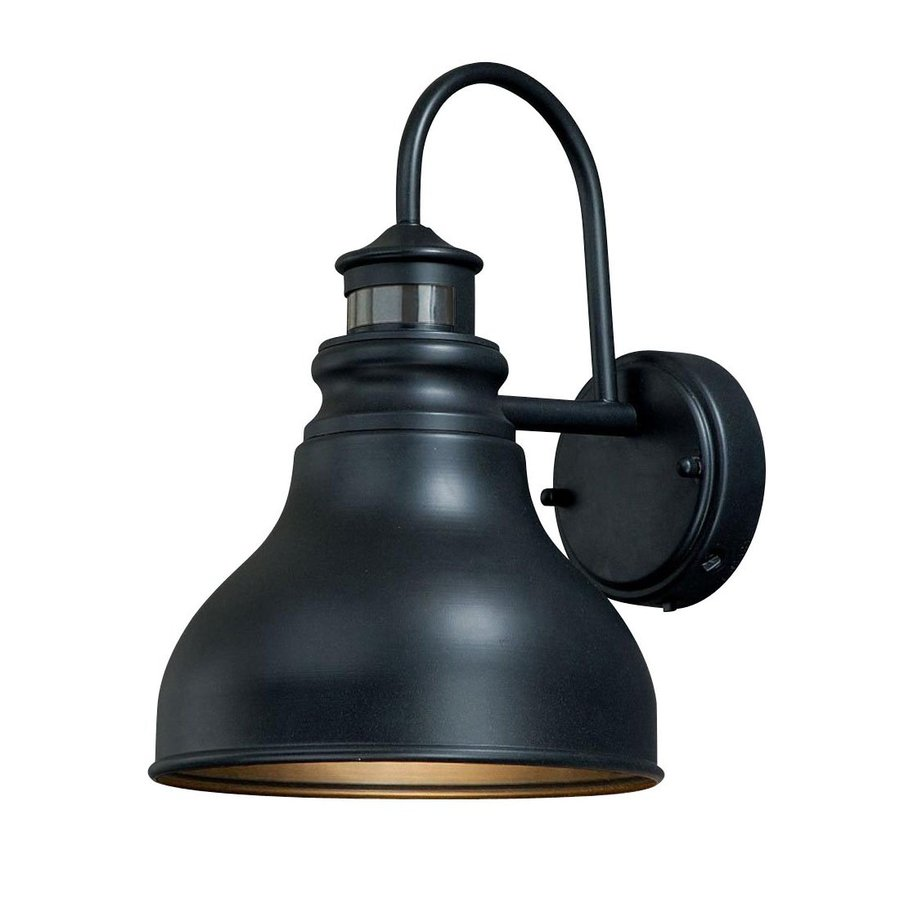 Shop Cascadia Franklin 11 In H Oil Rubbed Bronze Motion Activated Outdoor Wall Light At