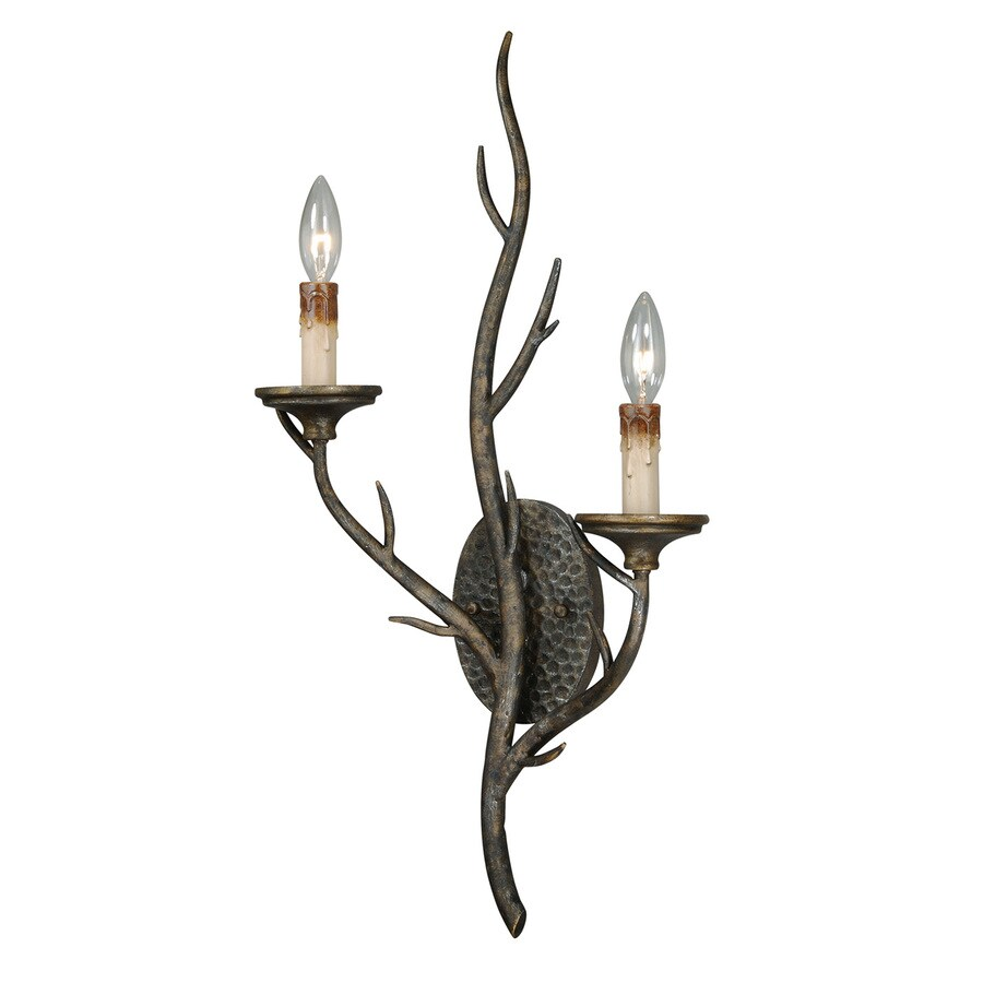 Cascadia Monterey 13-in W 2-Light Autumn Patina Candle Wall Sconce