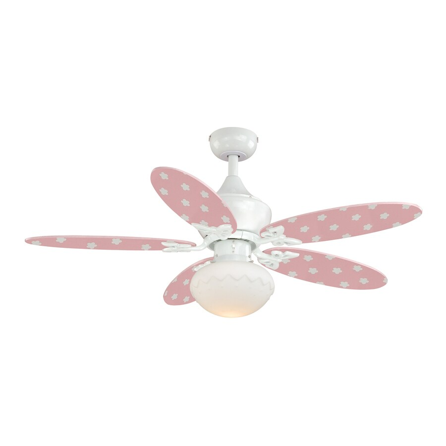 Cascadia Alice 44 In White Indoor Downrod Ceiling Fan With