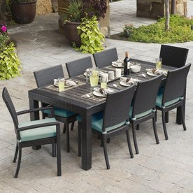 Great RST Brands Deco 9 Piece Composite Material Patio Dining Set