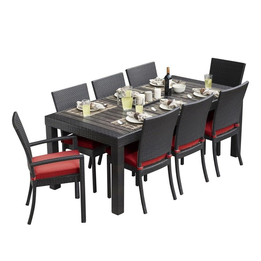 RST Brands Deco 9-Piece Espresso Composite Material Patio Dining Set