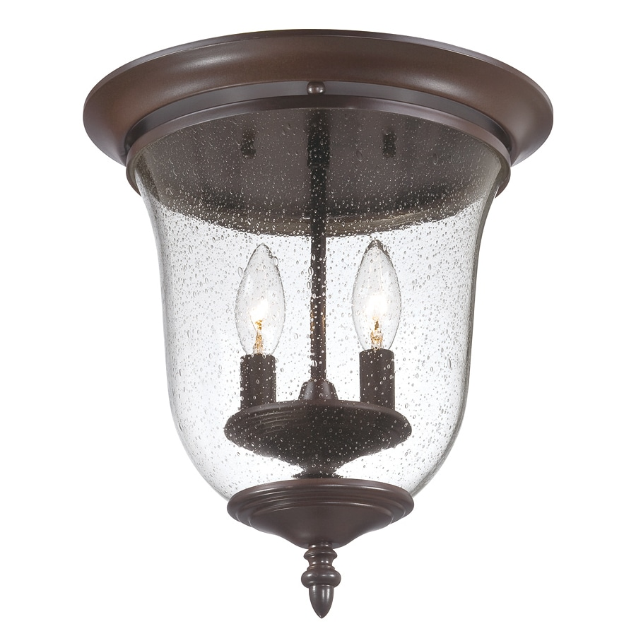Acclaim Lighting Belle 12-in W Architectural Bronze Outdoor Flush-Mount Light