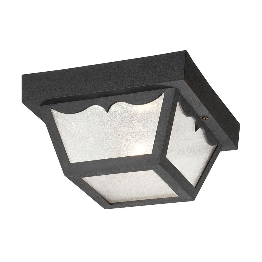 Acclaim Lighting Durex 8.25-in W Matte Black Outdoor Flush-Mount Light
