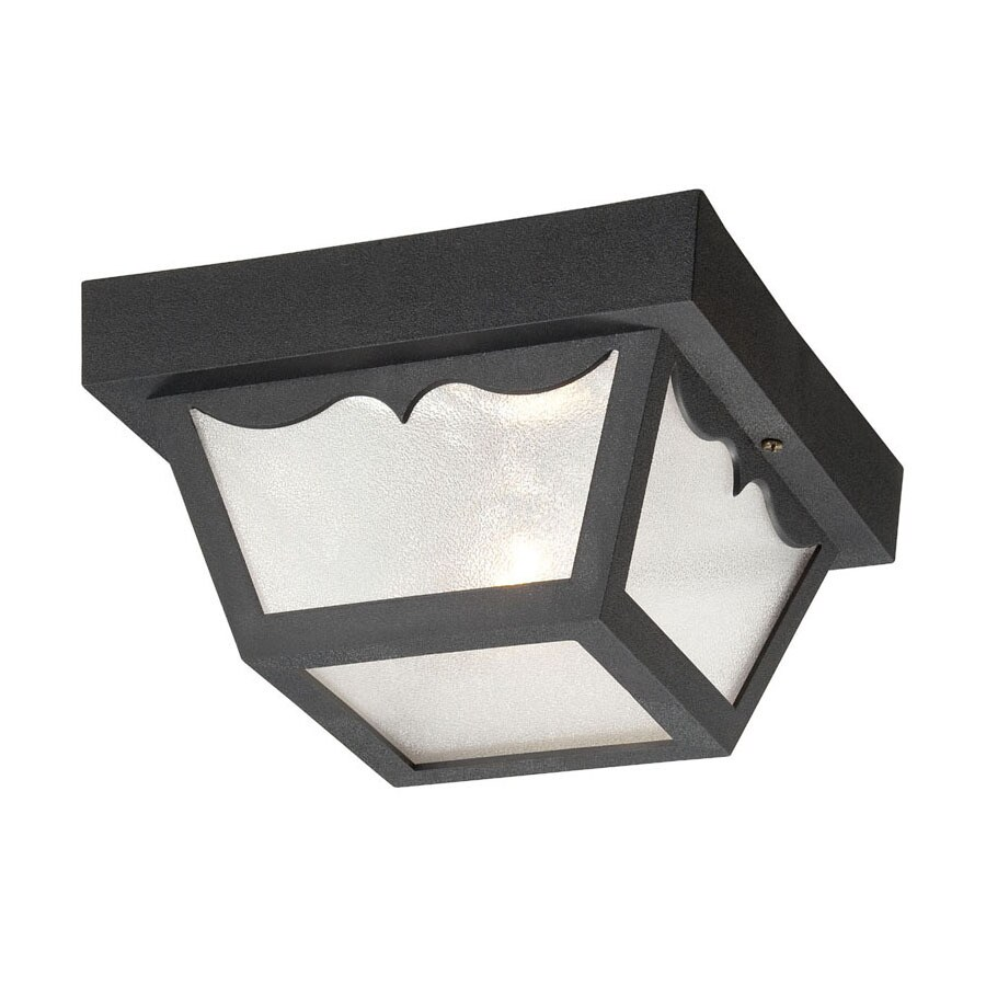 Acclaim Lighting Durex 8-in W Matte Black Outdoor Flush Mount Light