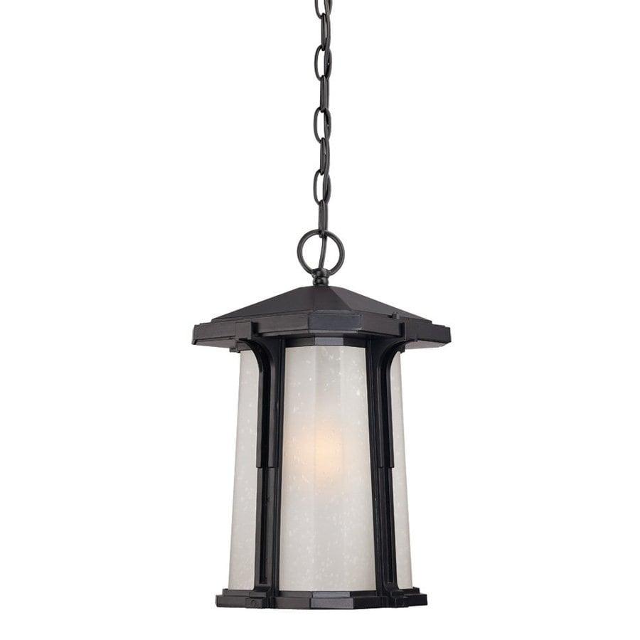 Acclaim Lighting Illuma 15-in Matte Black Outdoor Pendant Light