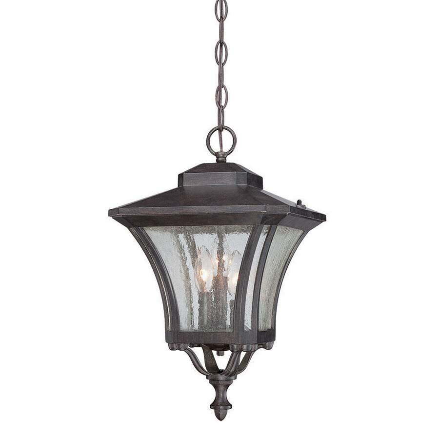 Acclaim Lighting Tuscan 19-in Black Coral Outdoor Pendant Light