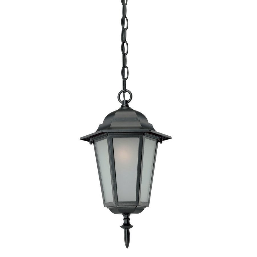 Acclaim Lighting Camelot 15.25-in Matte Black Outdoor Pendant Light
