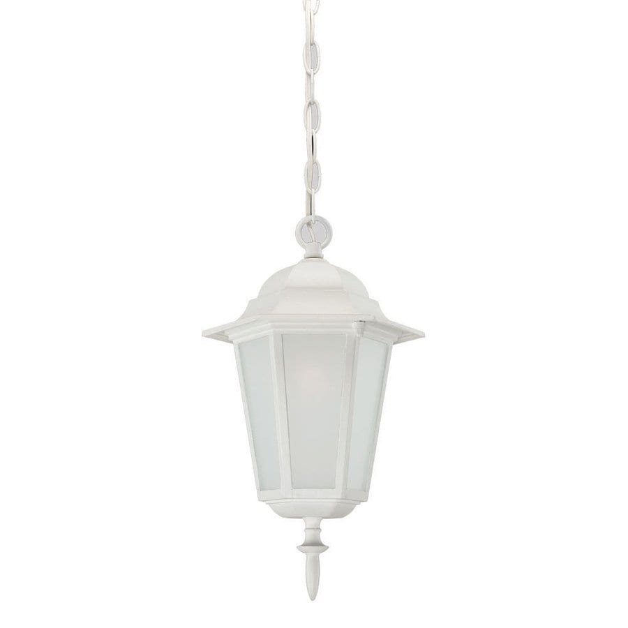 Acclaim Lighting Camelot 15.25-in Textured White Outdoor Pendant Light