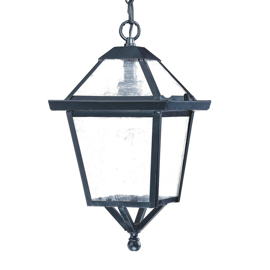 Acclaim Lighting Charleston 14-in Matte Black Outdoor Pendant Light