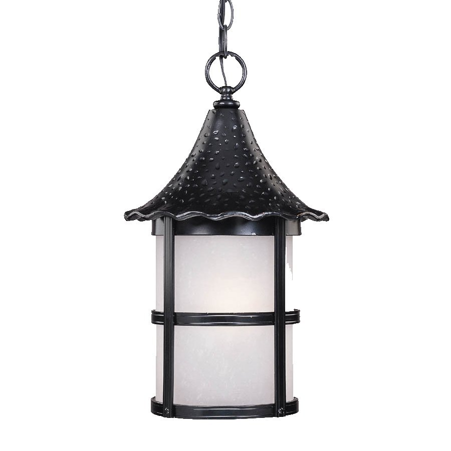 Acclaim Lighting Ashton 16.25-in Matte Black Outdoor Pendant Light