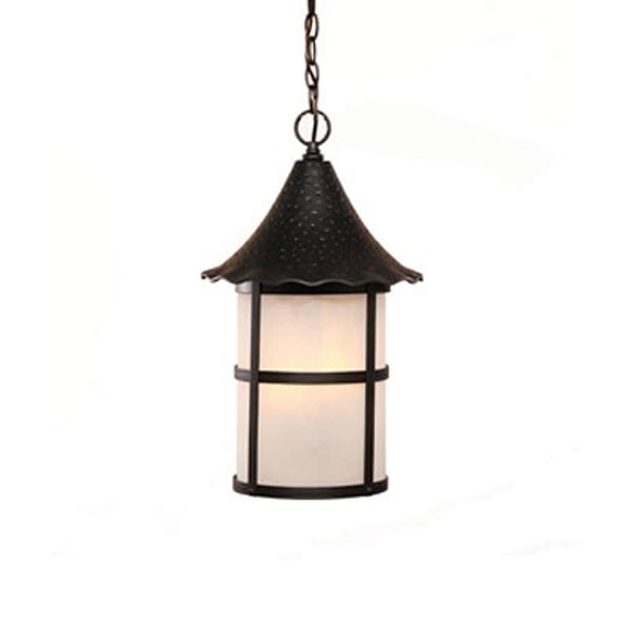 Acclaim Lighting Ashton 19-in Matte Black Outdoor Pendant Light