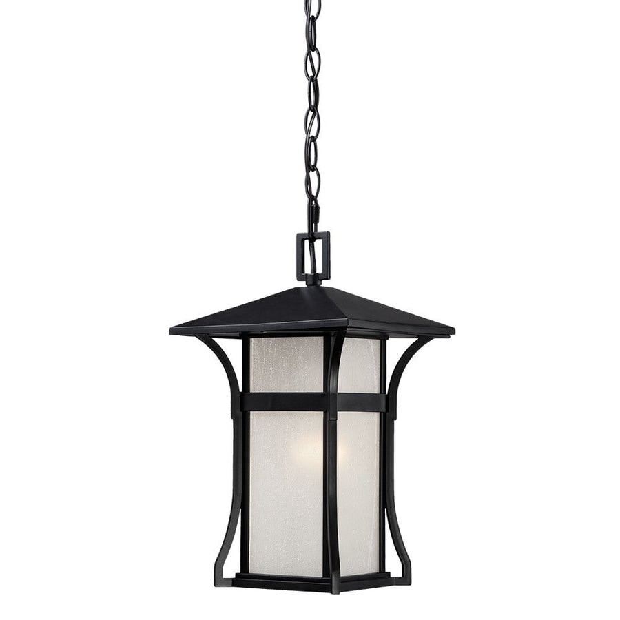 Acclaim Lighting Tahiti 14-in Matte Black Outdoor Pendant Light