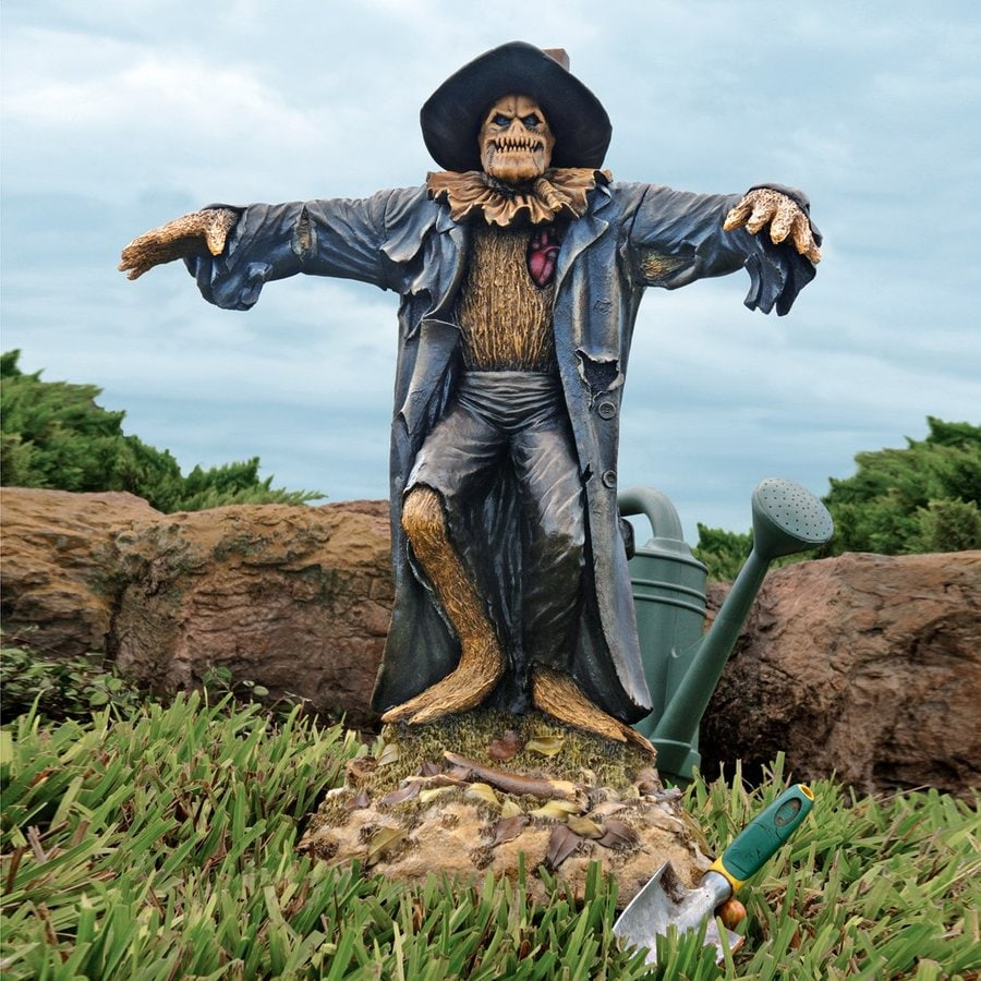 Shop Design Toscano Scarecrow Statue With Lights At Lowes Com