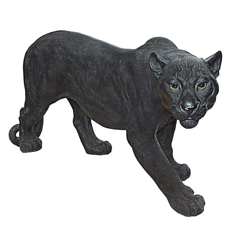 Design Toscano Shadowed Predator 15.5-in Animal Garden Statue